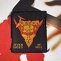Venom - Seven Dates Of Hell Original Woven Patch