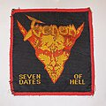 Venom - Patch - Venom - Seven Dates Of Hell Original Woven Patch (Red Border)