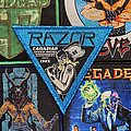 Razor - Executioners song Woven Patch (Blue glitter border)