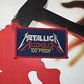 Metallica - Patch - VTG Metallica - Alcoholica 100° Proof Woven Patch