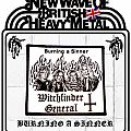 Witchfinder General - Burning a Sinner woven patch