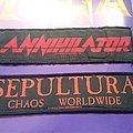 Strip Thrash Patches Annihilator,Sepultura