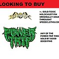Toxic Holocaust - Pin / Badge - looking for these pins