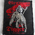 "Grave Digger ""Death Rides"" 1993 Woven patch Official"