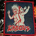 Exodus - Bonded By Blood (red border) patch