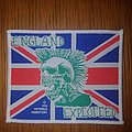 The Exploited - Patch - The Exploited - England patch white border #2