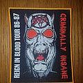 Slayer - Patch - Slayer Criminally Insane patch #35 of 100