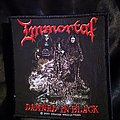 Immortal - Patch - Immortal - Damned In Black Artwork Patch