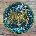Unleashed- Shadows In The Deep round woven patch, modern