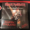 Iron Maiden - Infinite Dreams original 1989 pressing with Maiden England patch