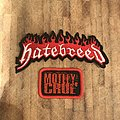 Hatebreed - Patch - Hatebreed logo patch and Mötley Crüe mini patch