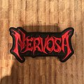 Nervosa - Patch - Nervosa - cut out logo patch