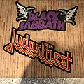 Black Sabbath - Patch - Black Sabbath & Judas Priest - cut out logo backpatches