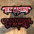 Cannibal Corpse - Patch - Cannibal Corpse & Testament logo back patches