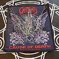 Obituary - Patch - Obituary Cause Of Death 1990 Patch Signed