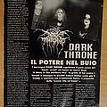 Darkthrone - Other Collectable - Darkthrone / Paradise Lost page from magazine