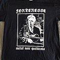 """FORTERESSE - """"Métal noir québécois"""" official tshirt"""