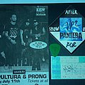Pantera /Sepultura/prong tix stub DIME STAGE USED PIC MAX AUTOGRAPH Other Collectable