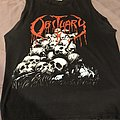 Obituary - pile of skulls cutoff blue grape tag TShirt or Longsleeve
