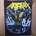 Anthrax 'Judge Dead' backpatch, 1987