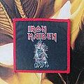 Iron Maiden - Patch - Iron Maiden - Eddie Red Border vtg