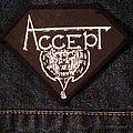 Accept vintage diamond shaped patch