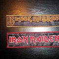Black Sabbath and Iron Maiden patches
