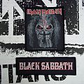 Black Sabbath and Iron Maiden patches