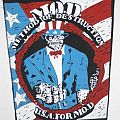 "M.O.D. - Patch - M.O.D. ""USA for M.O.D."" Org. 1987 Backpat"