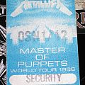 "Other Collectable - METALLICA ""Org. 1986 M.O.P. Tour Backstage Pass""  - Pass  - Sticker - not used!!!!"