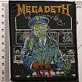 """Patch - MEGADETH """"Capitan Vig - Hangar 18"""" Patch 1991"""