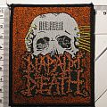 """Patch - NAPALM DEATH  - 4 org.  Patches 1990 FOR SALE OR TRADE  """"Scum"""" """"From Enslavement..."""" Life? Skeleton"""""""
