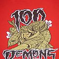 "100 DEMONS ""Warrior"" 2004 Red Shirt Size L -"