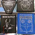 black metal patches bathory, dissection, dark throne