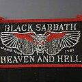 Black Sabbath - Patch - Black Sabbath | Heaven & Hell vtg patch