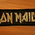 Iron Maiden - Patch - Iron Maiden - Golden logo vtg strip patch