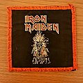 Iron Maiden - Patch - Iron Maiden - Eddie red border vtg patch