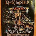 Iron Maiden - Patch - Iron Maiden | Somewhere On Tour Vtg Back Patch