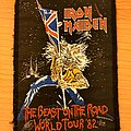 Iron Maiden - Patch - Iron Maiden - Beast on the Road World Tour 82' vtg patch