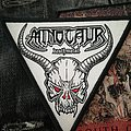 Minotaur - death metal triangular Patch
