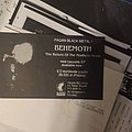 Behemoth - The Return of the Northern Moon Pagan Rec Flyer Other Collectable