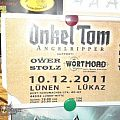 Other Collectable - Onkel Tom Angelripper Ticket with backstage pass