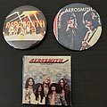 Vintage 1970s Aerosmith buttons  Pin / Badge