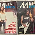 Vintage Metal Forces magazines from 1984.