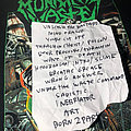 Municipal Waste Setlist 10-24-19 Other Collectable