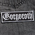 GORGOROTH - Logo 105X35 mm (embroidered) Patch