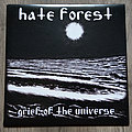 """HATE FOREST / LEGION OF DOOM - Grief Of The Universe / Spinning Galaxies 7"""" EP Split Grey Vinyl"""