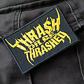 THRASH OR BE THRASHED - Patch - THRASH OR BE THRASHED 95x60mm (embroidered)