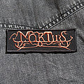MORTIIS - Logo 112X40 mm (embroidered patch)