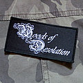 WOODS OF DESOLATION - Logo 102X53 mm (woven patch)